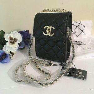 Vip gift mini woc soft leather , phone bag